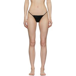 Black Silk Luxe Thong