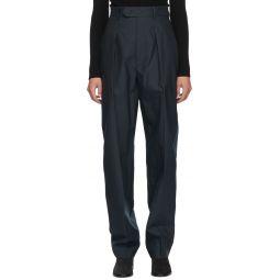 Navy Seersucker Tacoma Trousers