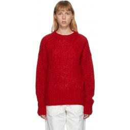 Red Mohair Estelle Sweater