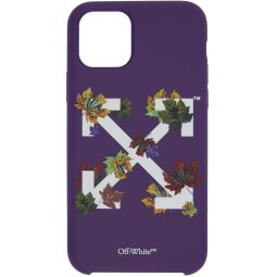 Purple Leaves iPhone 11 Pro Case