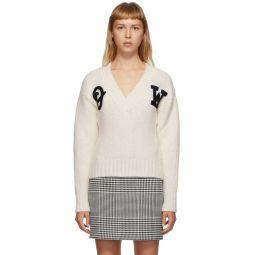 Off-White Logo Intarsia Sweater