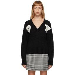 Black Logo Intarsia Sweater