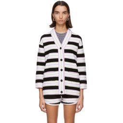 Multicolor Terrycloth Striped Cardigan