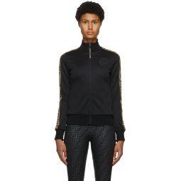 Black 'Forever Fendi' Zip-Up Jacket