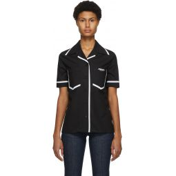 Black Eco Popeline Short Sleeve Shirt