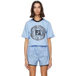 Blue Crop Logo T-Shirt