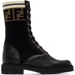 Black Rockoko Combat Boots