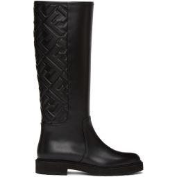 Black 'Forever Fendi' Tall Boots