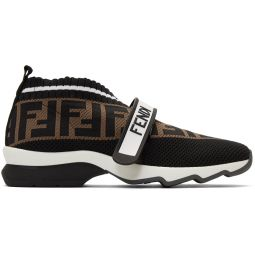 Black 'Forever Fendi' Rockoko Sneakers
