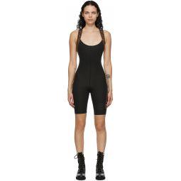 Black Stretch 'Forever Fendi' Fitness Bodysuit