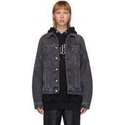 Black Denim Logo Over Jacket
