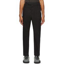 Black Slim Uniform Trousers