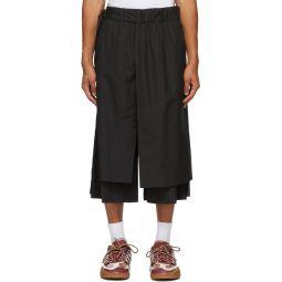 Black Layered Track Shorts