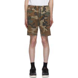 Green Utility Cargo Shorts