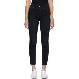 Black 90s High-Rise Ankle Crop Jeans