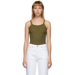 Green Hanes Edition Ribbed Tank Top