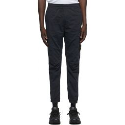Navy Panelled Cargo Pants