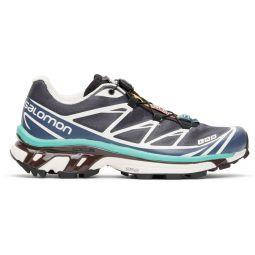 Grey & Blue XT-6 Advanced Sneakers