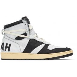 White & Black Rhecess Classic Hi Sneakers