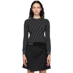 Black & Grey 'Forever Fendi' Sweater