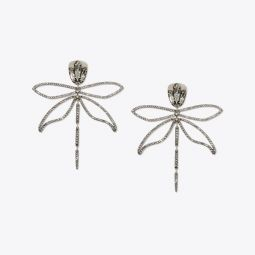 EMBELLISHED ARTICULATED DRAGONFLY EARRING