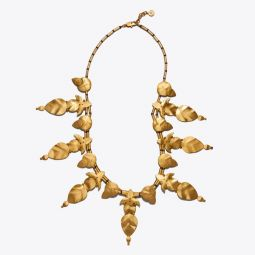 HAMMERED WILLOW-LEAF NECKLACE