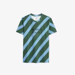 Overprinted Stripe T-Shirt