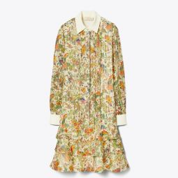 PRINTED CONVERTIBLE LUREX DRESS