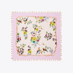 Porcelain Floral Embellished Neckerchief