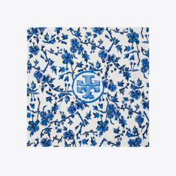 Blue Branches Silk Neckerchief