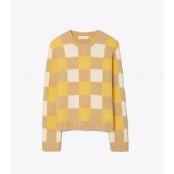 Checkered Intarsia Sweater