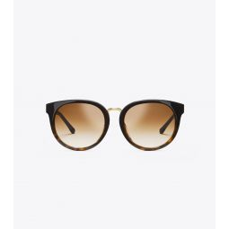 The Reva Color-Blocked Tortoise Sunglasses