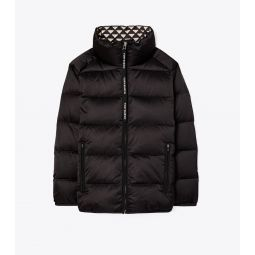 Triangle Geo-Lined Down Jacket