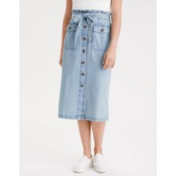 AE Denim Paperbag Midi Skirt