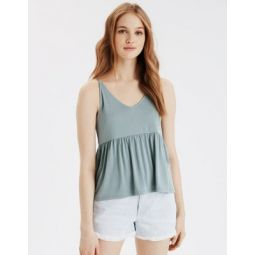 AE V-Neck Peplum Tank Top