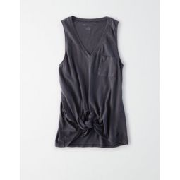 AE Soft & Sexy Tie Front Tank Top