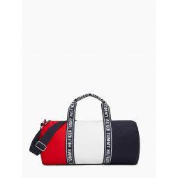 Logo Tape Colorblock Duffle Bag