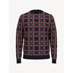 Essential Plaid Crewneck Sweater