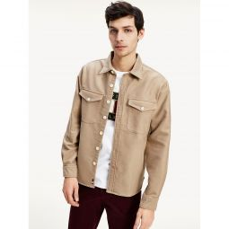 Relaxed Fit Moleskin Twill Overshirt