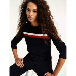 Organic Cotton Cable Stripe Sweater