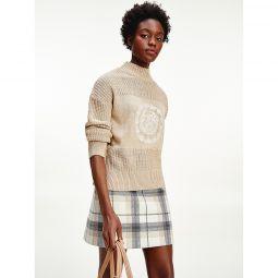 Mix Knit Monogram Sweater
