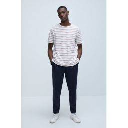 STRUCTURED STRIPED T-SHIRT