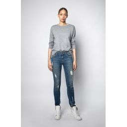 Cici M Star Patch Sweater