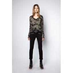 Brume Print Camou Cashmere Sweater
