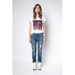 Antonia Tiger Strass T-Shirt