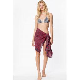 Cocoa printed sarong