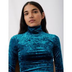 120TANDY Lightweight crushed velvet polo-neck