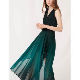 Printed jacquard scarf dress