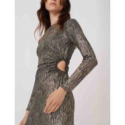 Stretch fabric figure-hugging dress