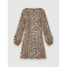 120ROCKINE Plissee animal print dress
